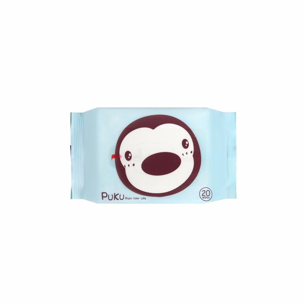 【藍色企鵝 PUKU】嬰兒柔濕巾隨身包 20抽