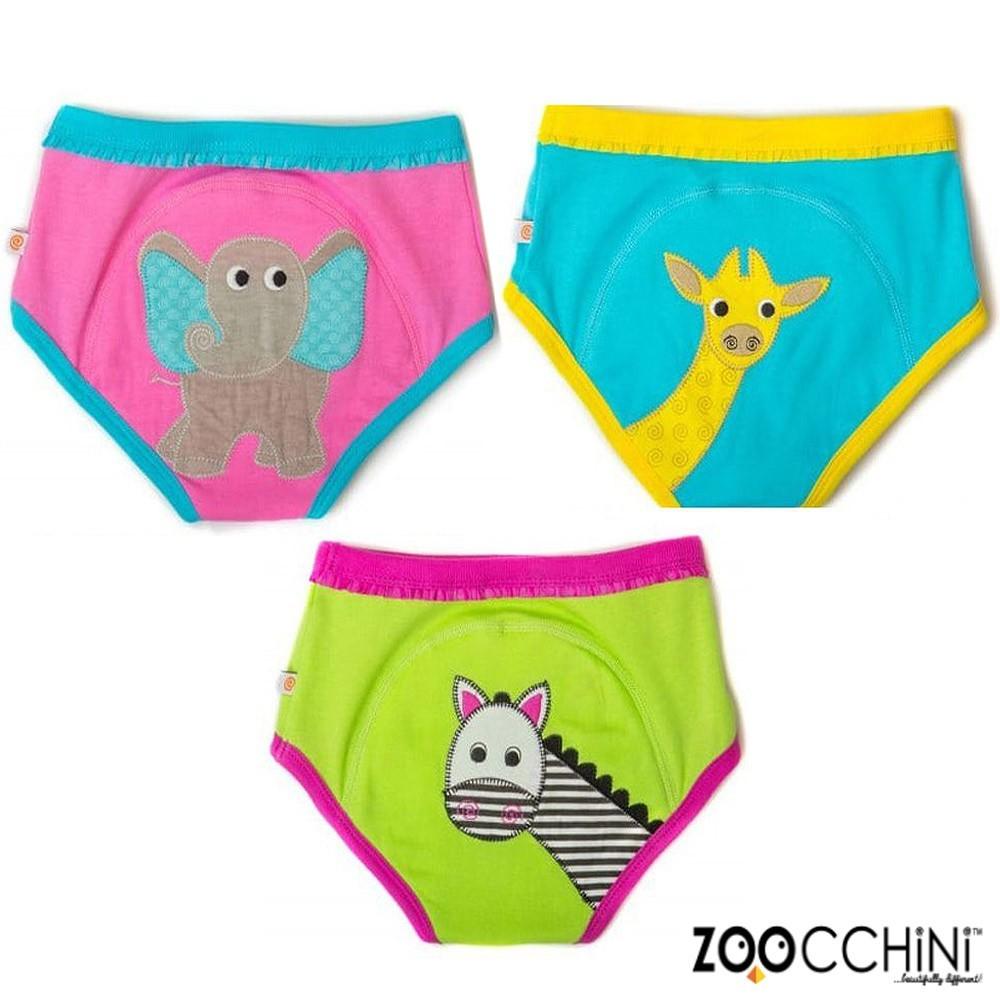 美國zoocchini有機棉學習褲3入-可愛動物(女) 訓練褲
