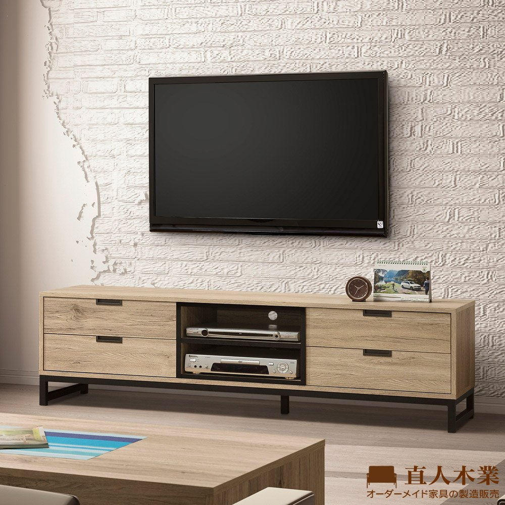 【日本直人木業】LONDON北美橡木152CM電視櫃