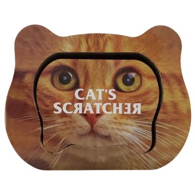 微笑汪喵-可愛貓頭造型貓用紙抓板