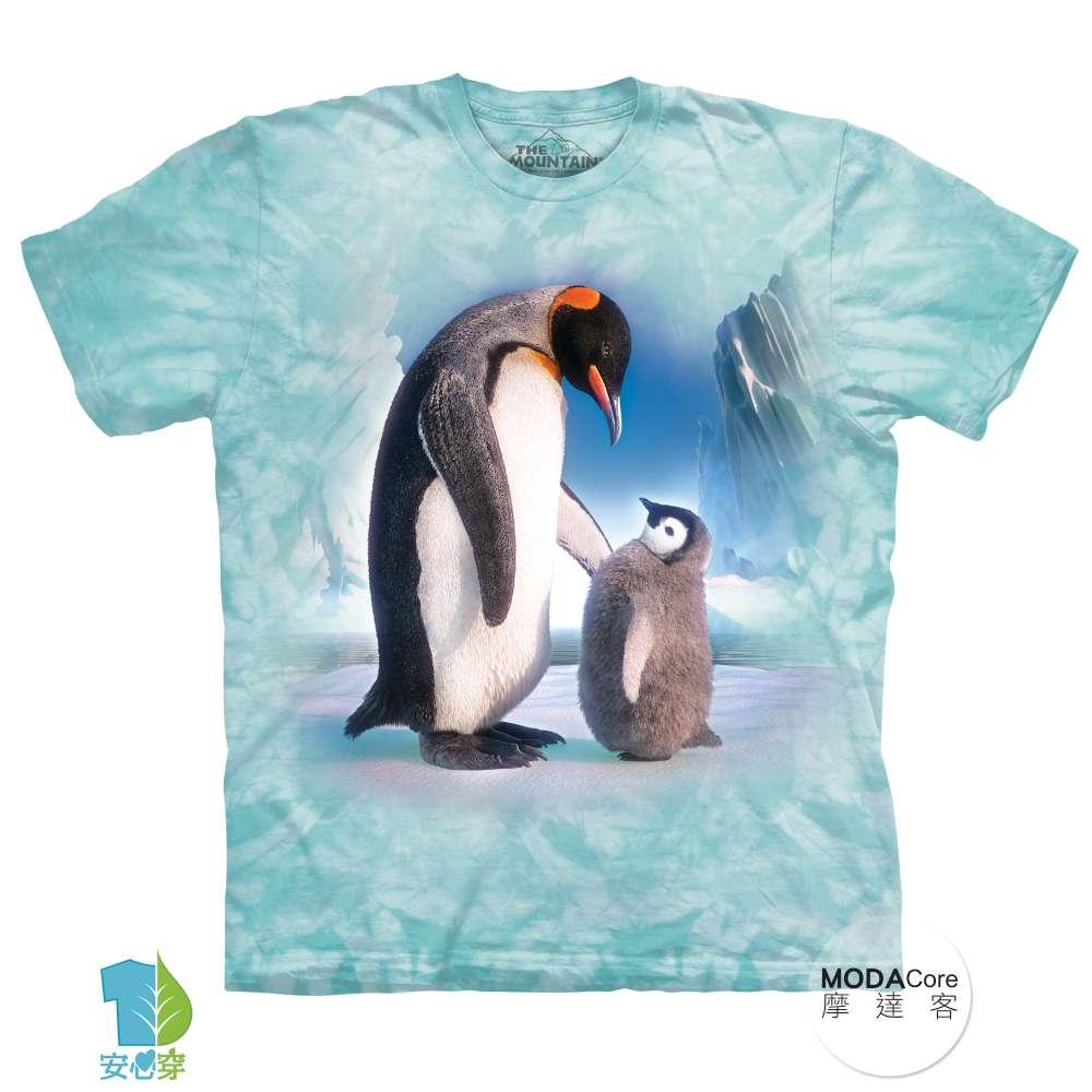 【摩達客】美國進口The Mountain 帝王企鵝傳承 純棉環保藝術中性短袖T恤-預購-3XL