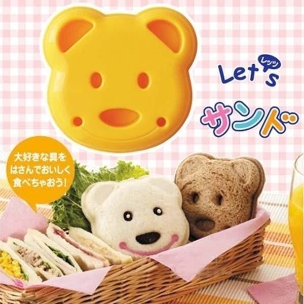 居家寶盒sv8086日本製 diy小熊三明治模具 麵包模具 吐司麵包模型 三明治切邊器