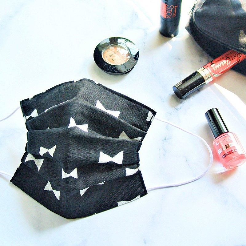 手工立體口罩 可洗滌 日本製純棉二重紗布 蝴蝶 黑色 成人
