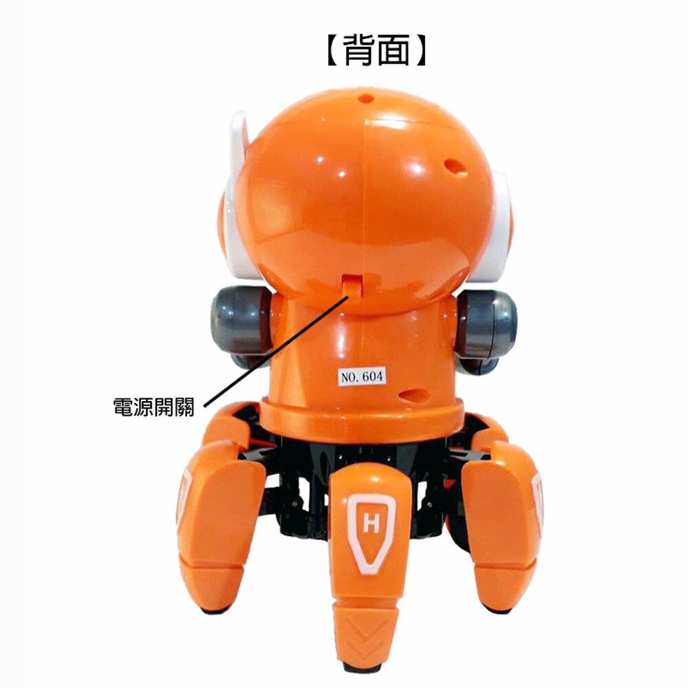 【GCT玩具嚴選】ROBOT六爪行走機器人 聲光機器人玩具