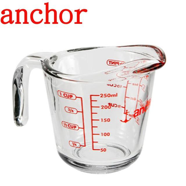美國Anchor 安佳專業級強化玻璃量杯(250cc)(500cc)(1000CC)