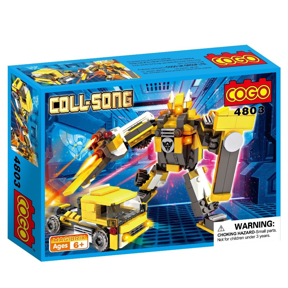 COGO積木 6合1酷炫機器人系列 卡車車頭-4803