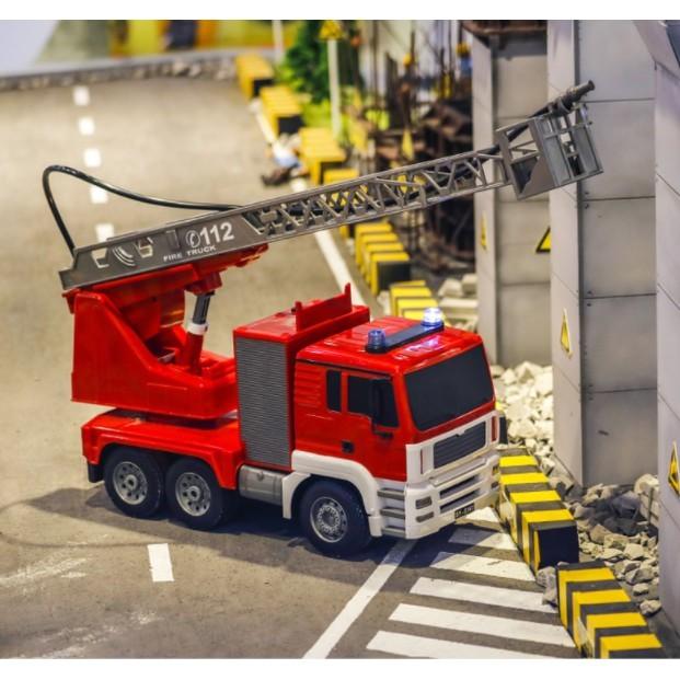雙鷹遙控消防車電動升降雲梯兒童男孩玩具模型5大號噴水3-6歲禮物 - 大號雲梯電動消防車可碰水