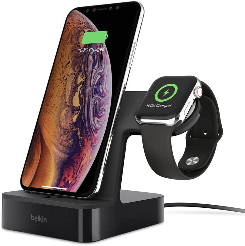 [9美國直購] 充電座 Belkin F8J237ttBLK iPhone Charging Dock + Apple Watch Charging Stand (Powerhouse iPhone