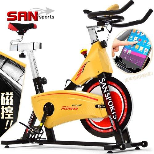【SAN SPORTS 山司伯特】武士18公斤磁控飛輪車(皮帶傳動)