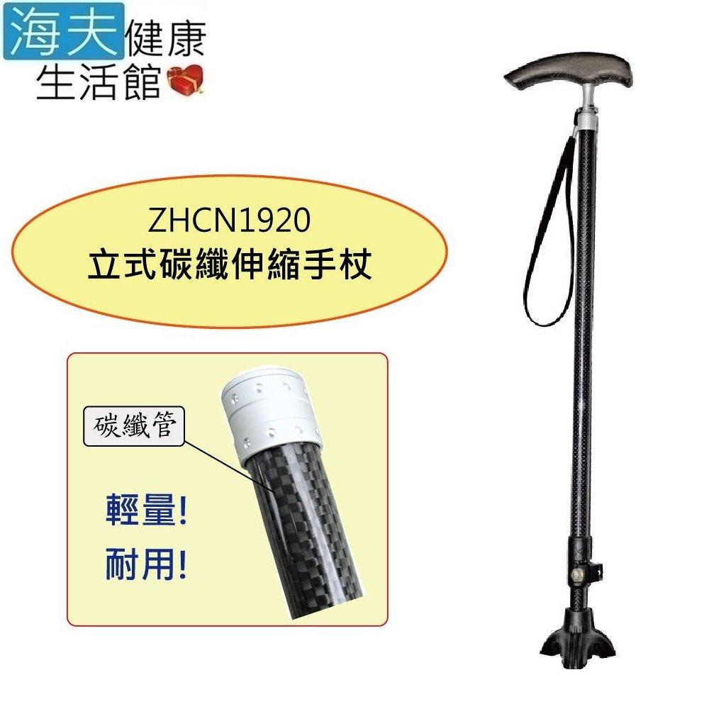 【海夫健康生活館】日華 拐杖手杖 立式/伸縮/超輕碳纖維(ZHCN1920)