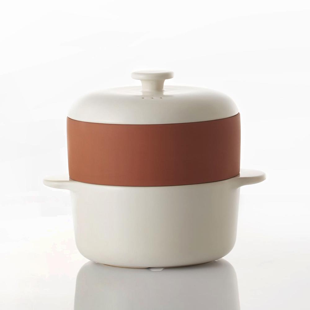 JIA Inc. 饗食版 蒸鍋蒸籠14cm (Q版白色陶鍋)