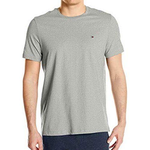 【Tommy Hilfiger】2018男時尚標誌灰色圓領短袖內衣【預購】