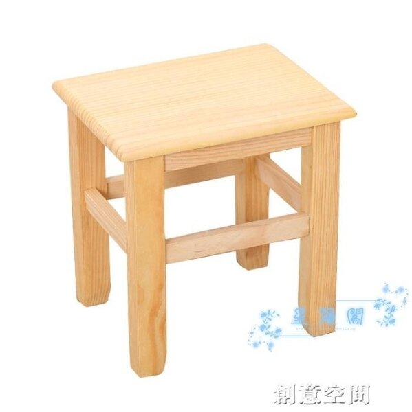 木板凳 小木凳實木板凳木頭凳子兒童方凳靠背小椅子家用矮凳經濟型換鞋凳【99購物節】