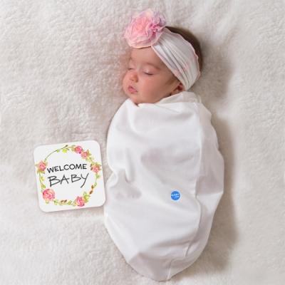 BABY joe - 穿套式實用造型包巾套組 - 雪紡紗玫瑰名媛