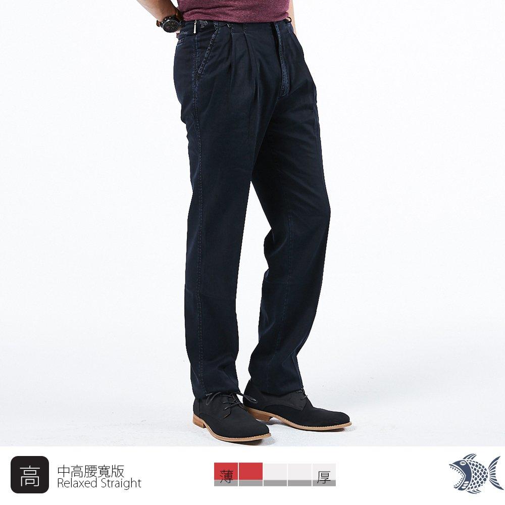 【NST Jeans】經典熱賣款 微彈高腰打摺牛仔褲(中高腰寬版) 002(8742)