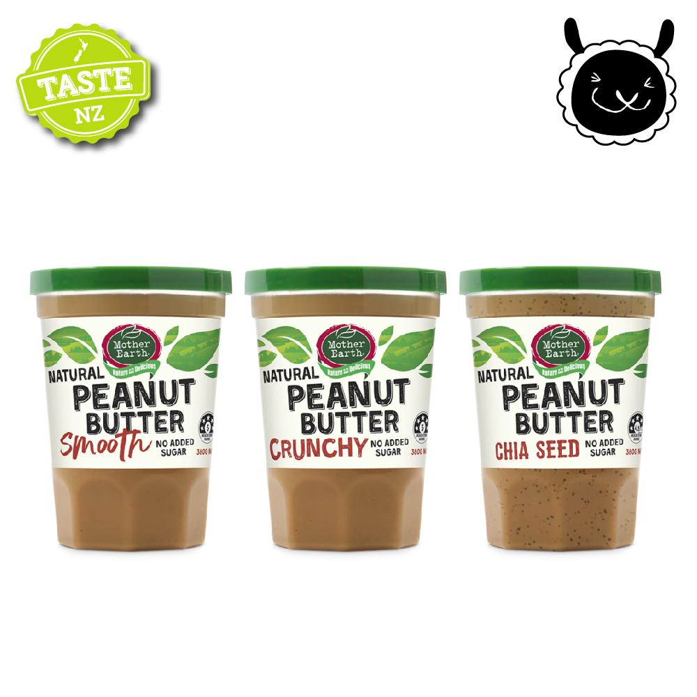【壽滿趣】紐西蘭Mother Earth超級花生醬380g(三種口味任選)
