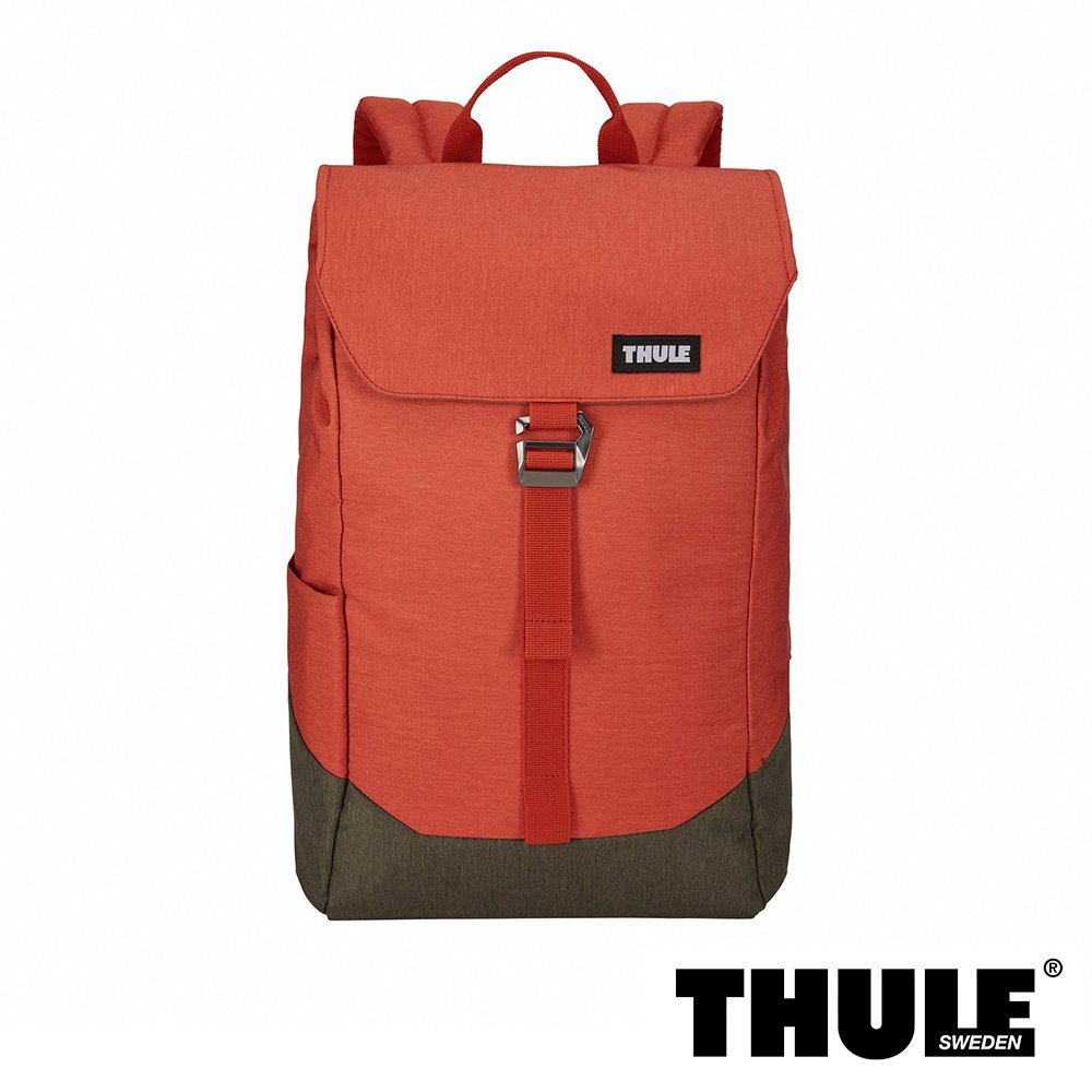 Thule Lithos 16L 15 吋休閒後背包 - 橘紅