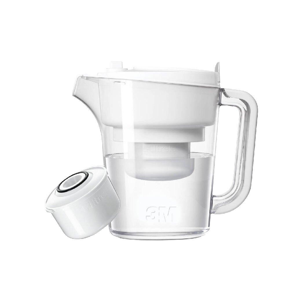 3M WP3000 即淨長效濾水壺一壺一心-白色款 || 濾水壺 濾心 過濾 淨水 白色