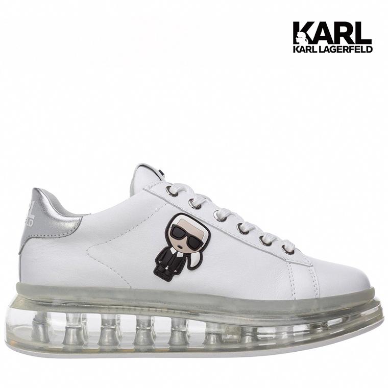 【KARL LAGERFELD】氣墊 運動鞋 休閒鞋 KAPRI IKONIK氣墊運動鞋-白