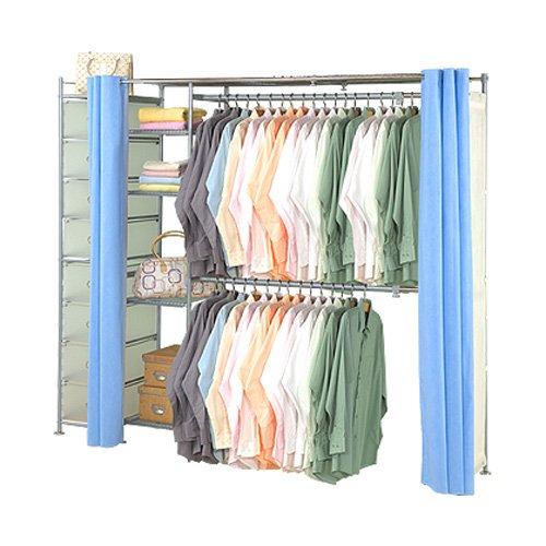 巴塞隆納-超大收納34型防塵伸縮衣櫥 (附抽屜櫃)