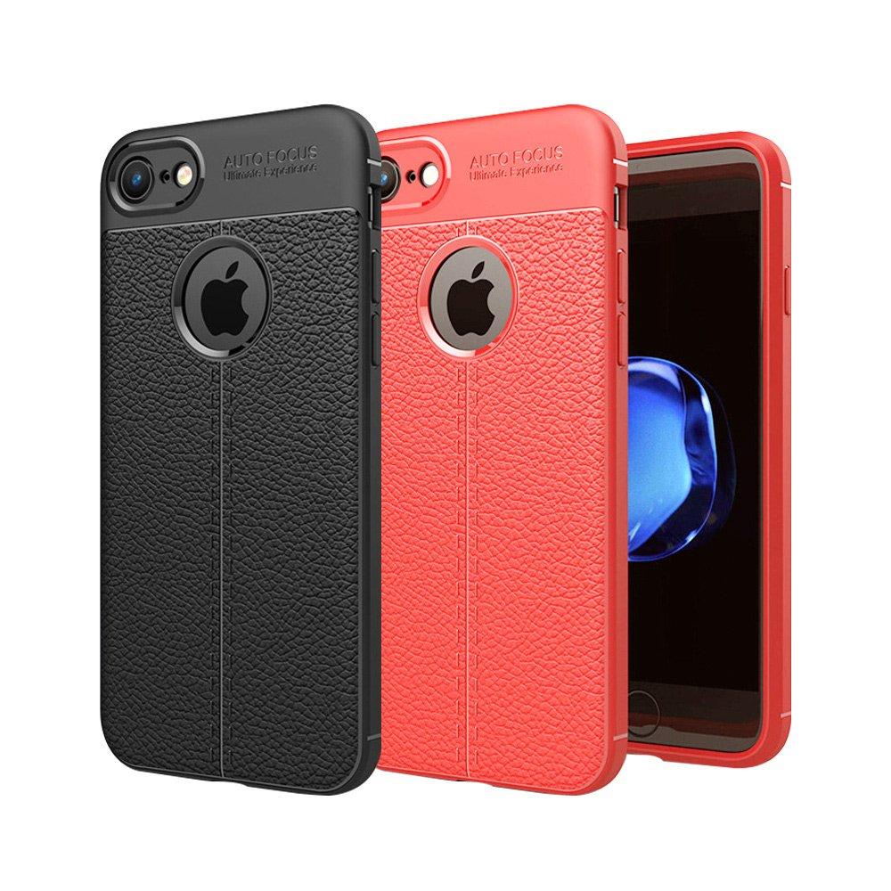 【YANGYI揚邑】Apple iPhone 8/7/SE2 2020 4.7吋 碳纖維皮革紋軟殼散熱防震抗摔手機殼
