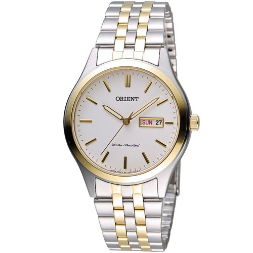 ORIENT 東方 經典紳士石英腕錶 FUG1Y002W 雙色