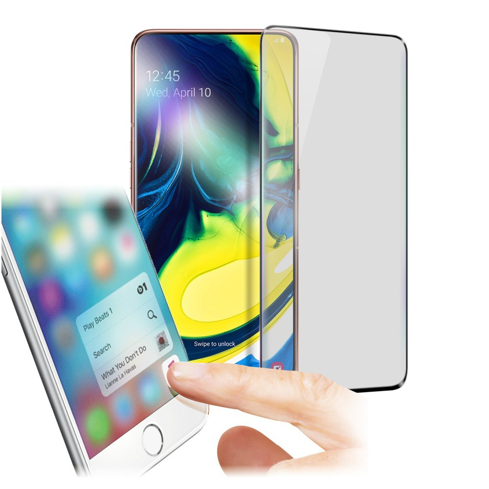 Xmart for 三星 Samsung Galaxy A80 防指紋霧面滿版玻璃保護貼
