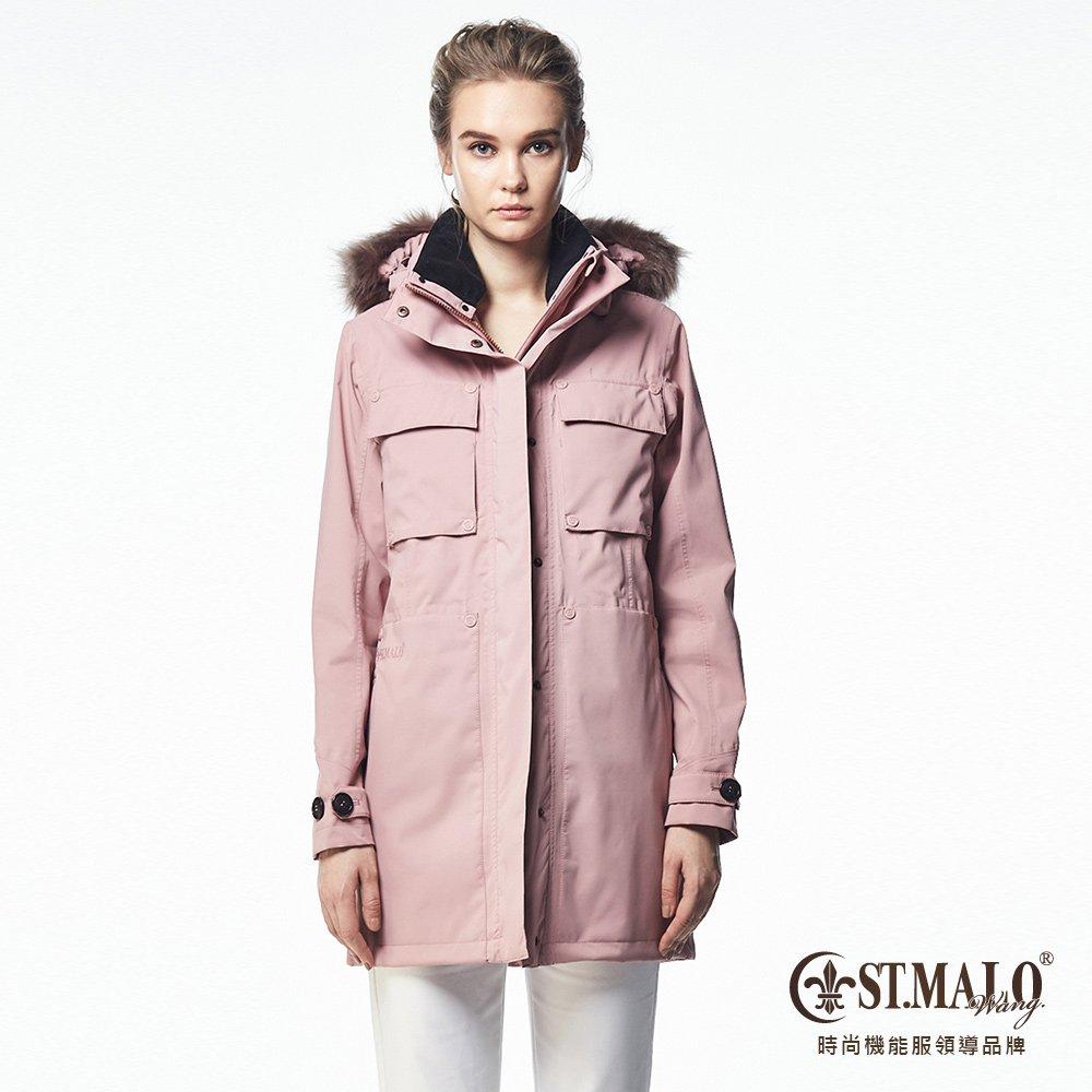 【ST.MALO】Sympatex珍藏羊駝鉑金禦寒大衣-1645WJ-嫩粉紅(加送蓄熱外套)