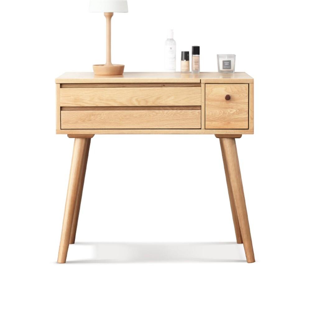 obis柏林橡木簡約多功能收納化妝桌 0.8m y8320