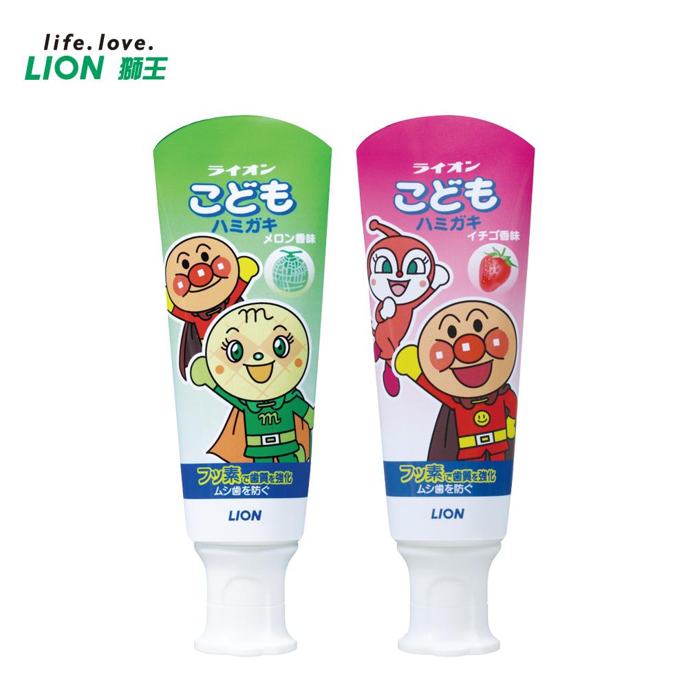 日本獅王麵包超人牙膏40gX10入(草莓.哈密瓜 任選)