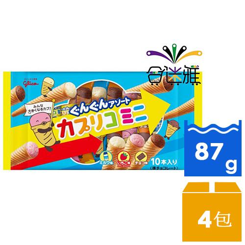 格力高-綜合迷你甜筒餅乾(87g/包)X4包 _ 01
