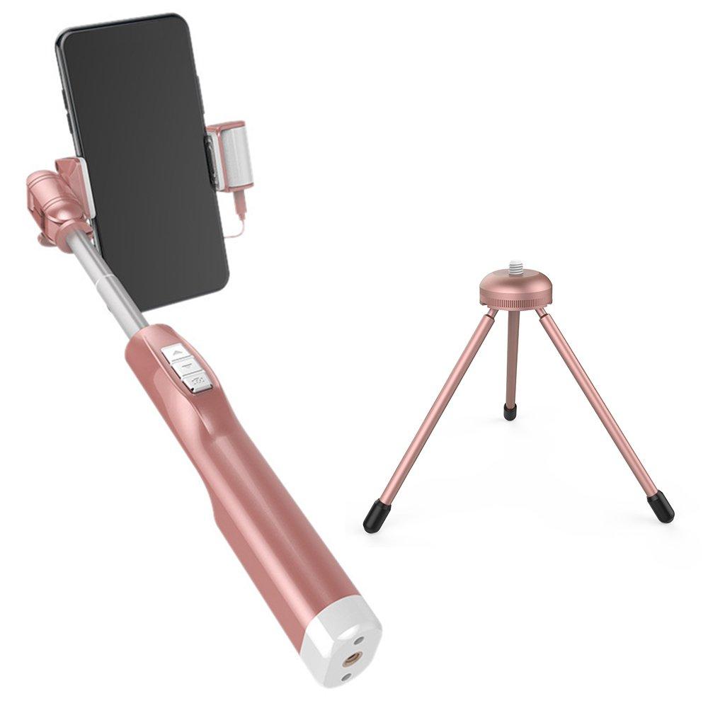 粉嫩大升級 A8 上下雙補光 後視鏡線控自拍棒 手機 自拍伸縮棒 3.5mm接頭 美顏神器 贈三腳架