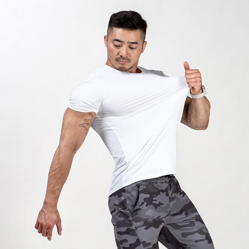[AROO]平口訓練短T-白【AROO-R01】
