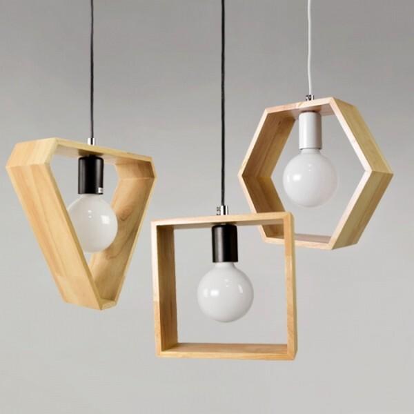 18park-木創客吊燈 [白色,正三角形]