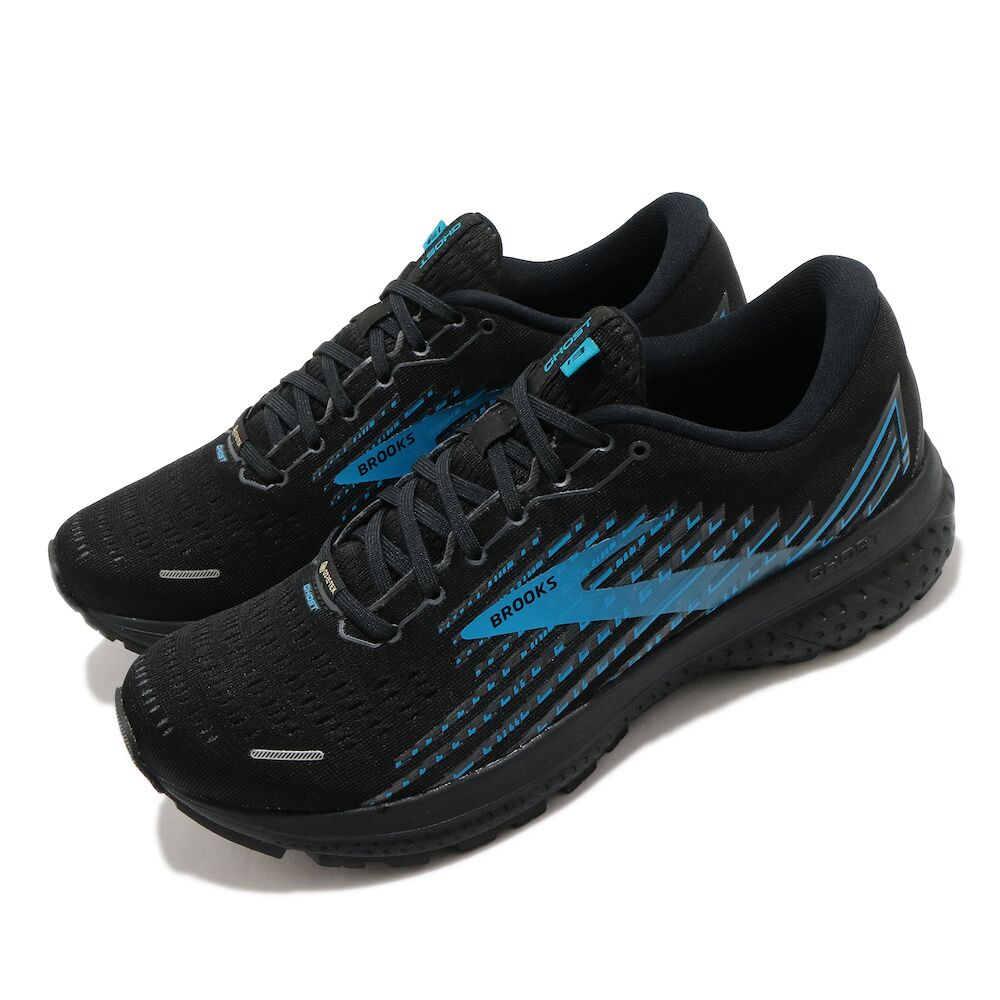BROOKS 慢跑鞋 Ghost 13 GTX 運動 男鞋 路跑 緩震 DNA科技 健身 防潑水 黑 藍 [1103421D018]