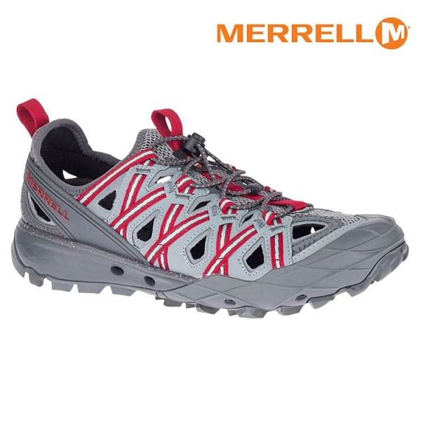 MERRELL 男 ML033539 水陸兩用鞋 CHOPROCK SHANDAL【灰紅】/ 城市綠洲 (快速排水、抗菌防臭)