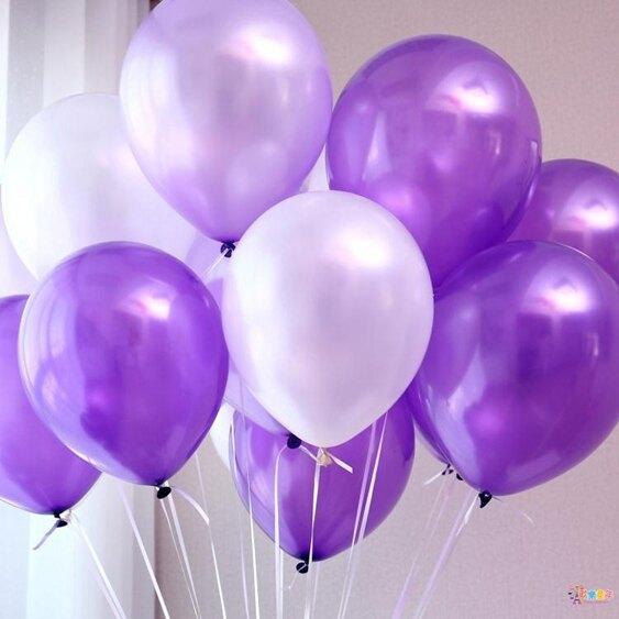 氣球 派對兒童珠光場景婚慶結婚加厚汽球生日布置彩色氣球婚禮裝飾【全館免運 限時鉅惠】