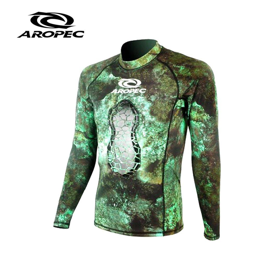 AROPEC Tracker 男款打獵潛水長袖防寒上衣 迷彩綠