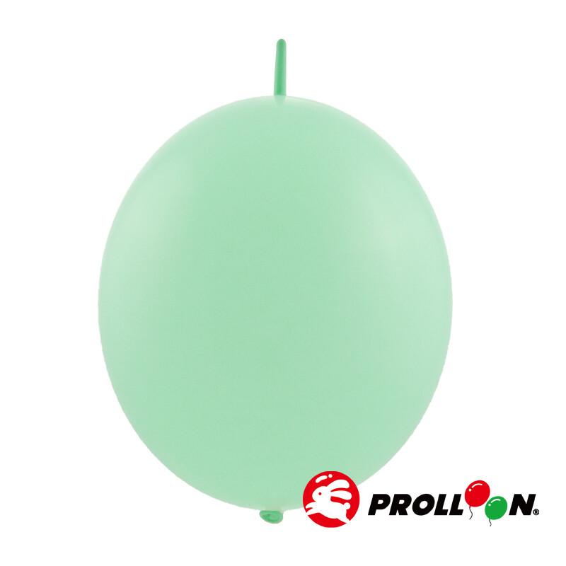 大倫氣球12吋馬卡龍色 圓形連接氣球 針球 100顆裝 淡綠色 台灣製造 安全無毒