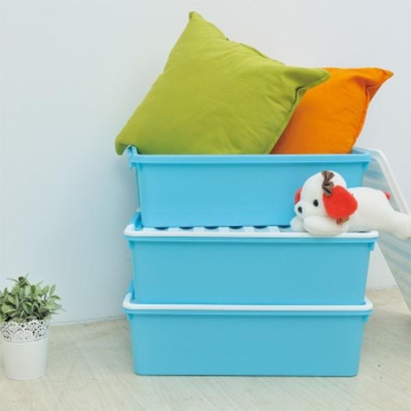 居家寶盒yv9037(32lx1入) ikloo~床底漾彩掀蓋收納箱 床底收納盒 收納箱 置物箱