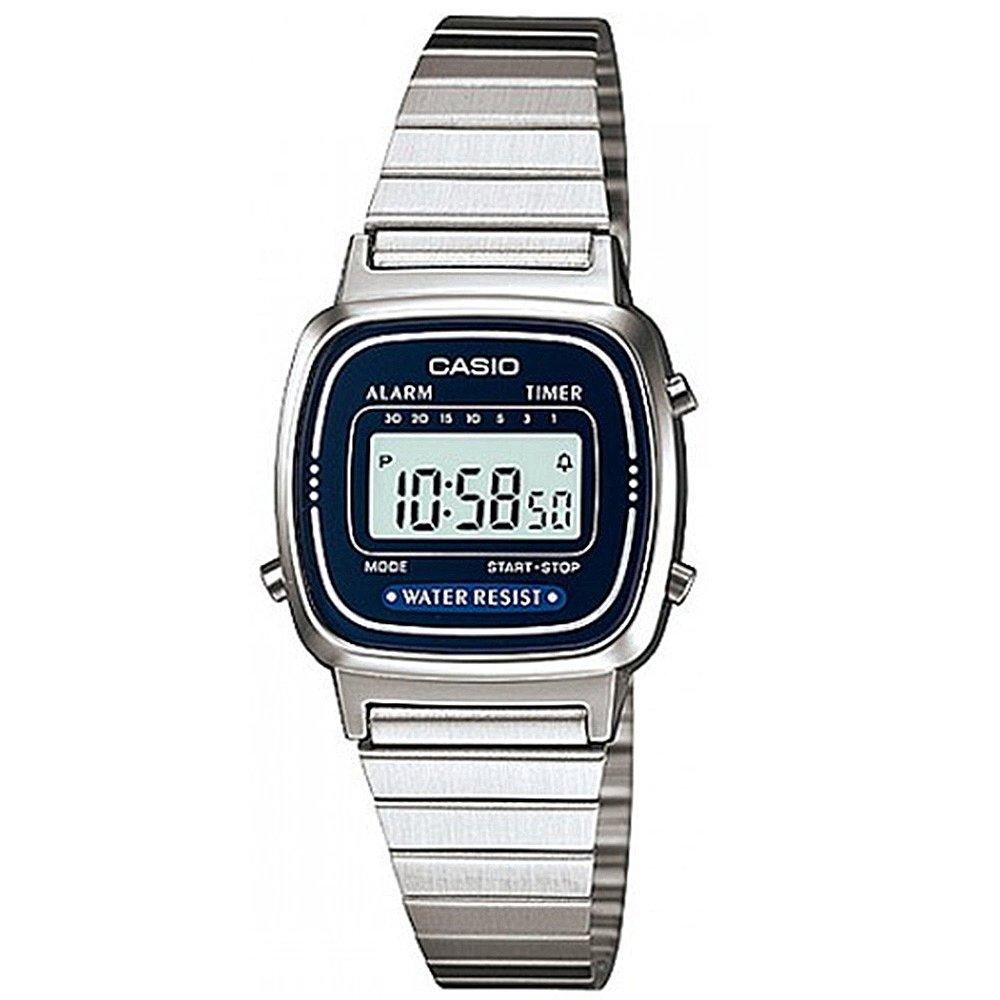 【CASIO卡西歐】經典魅力方形復古風數位電子錶- 藍  (LA-670WA-2 )