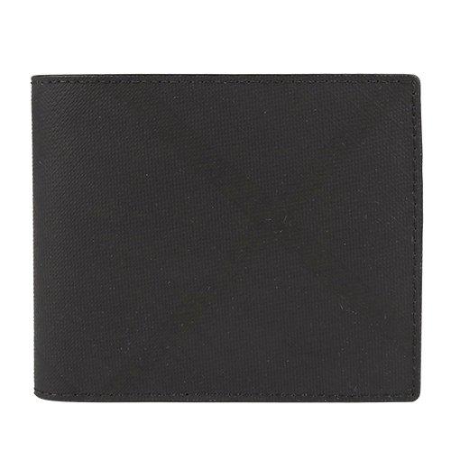 BURBERRY 防刮黑灰前斜紋.後正格二折8卡短夾(黑.灰) (152700-36)