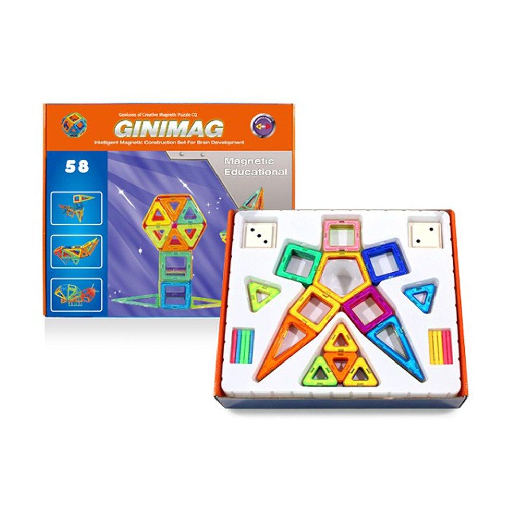 磁鐵積木GINIMAG磁性建構片58片
