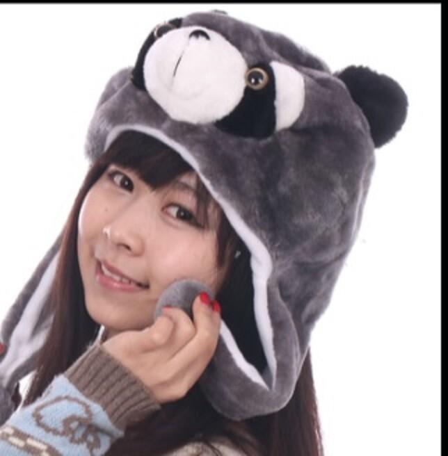 派對達人浣熊裝扮/浣熊服裝/浣熊頭套/各類絨毛動物帽/浣熊帽子(2)
