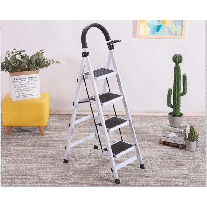 一件免運 室內人字梯子家用折疊四步五步踏板爬梯加厚鋼管伸縮多功能扶樓梯 優質材質扎實穩固d型專用管材