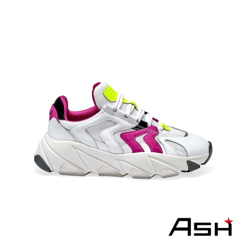 ASH EXTREME 增高厚底老爹鞋 螢紅白色