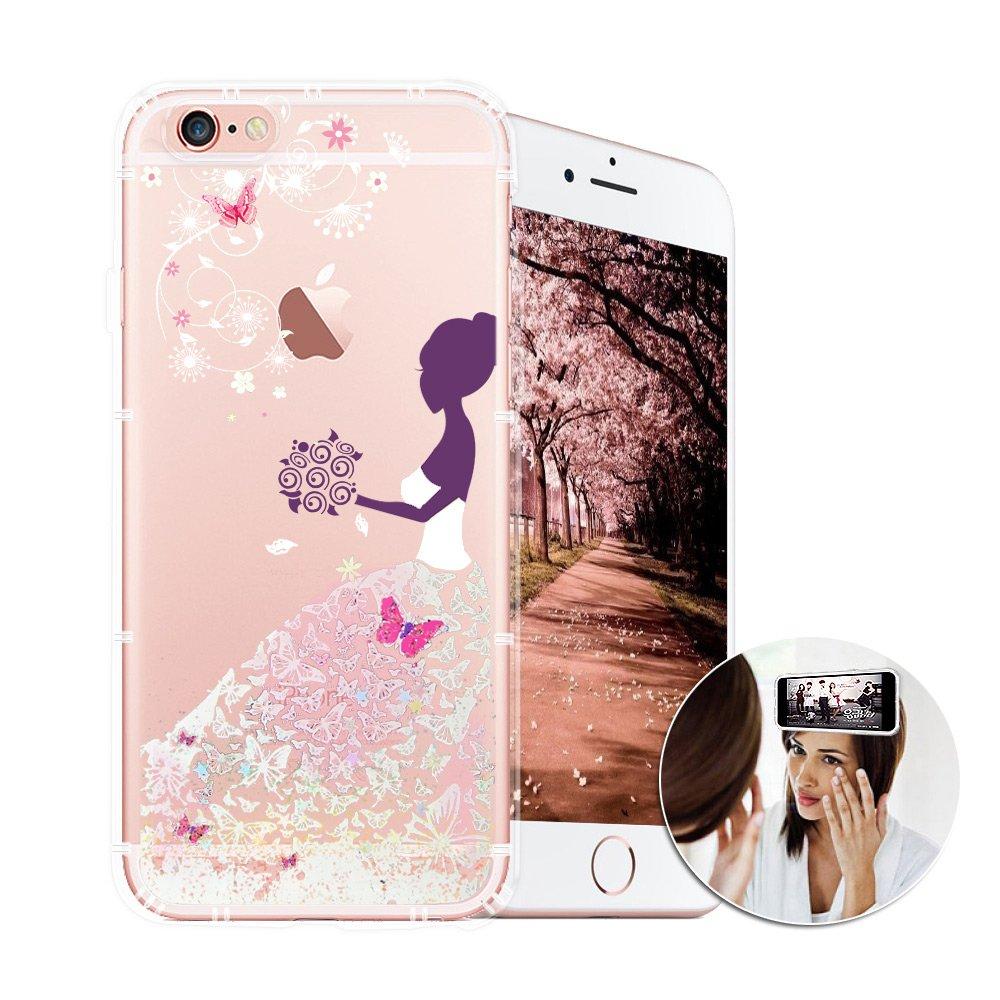 EVO反重力 iPhone 6s 4.7吋 亮粉空壓手機殼(蝴蝶禮服) 有吊飾孔