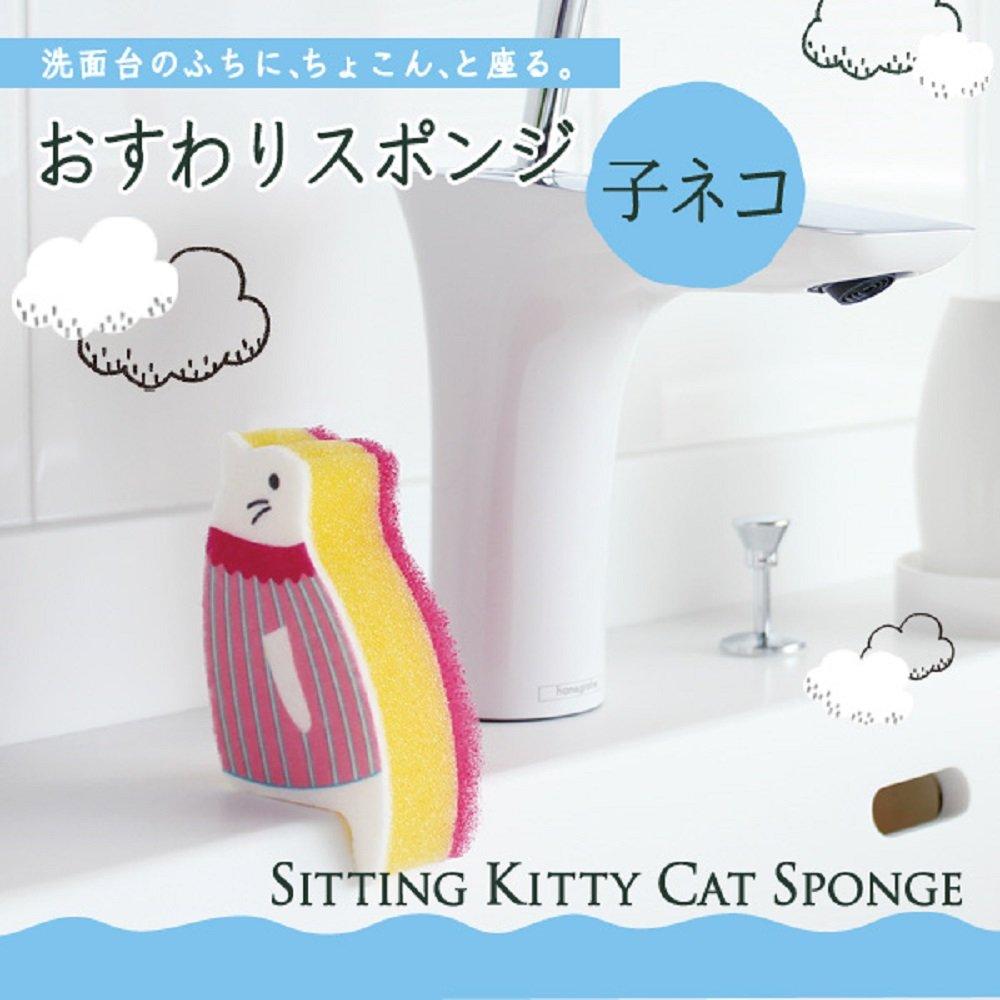 日本品牌「MARNA」崖上的貓咪菜瓜布 K575