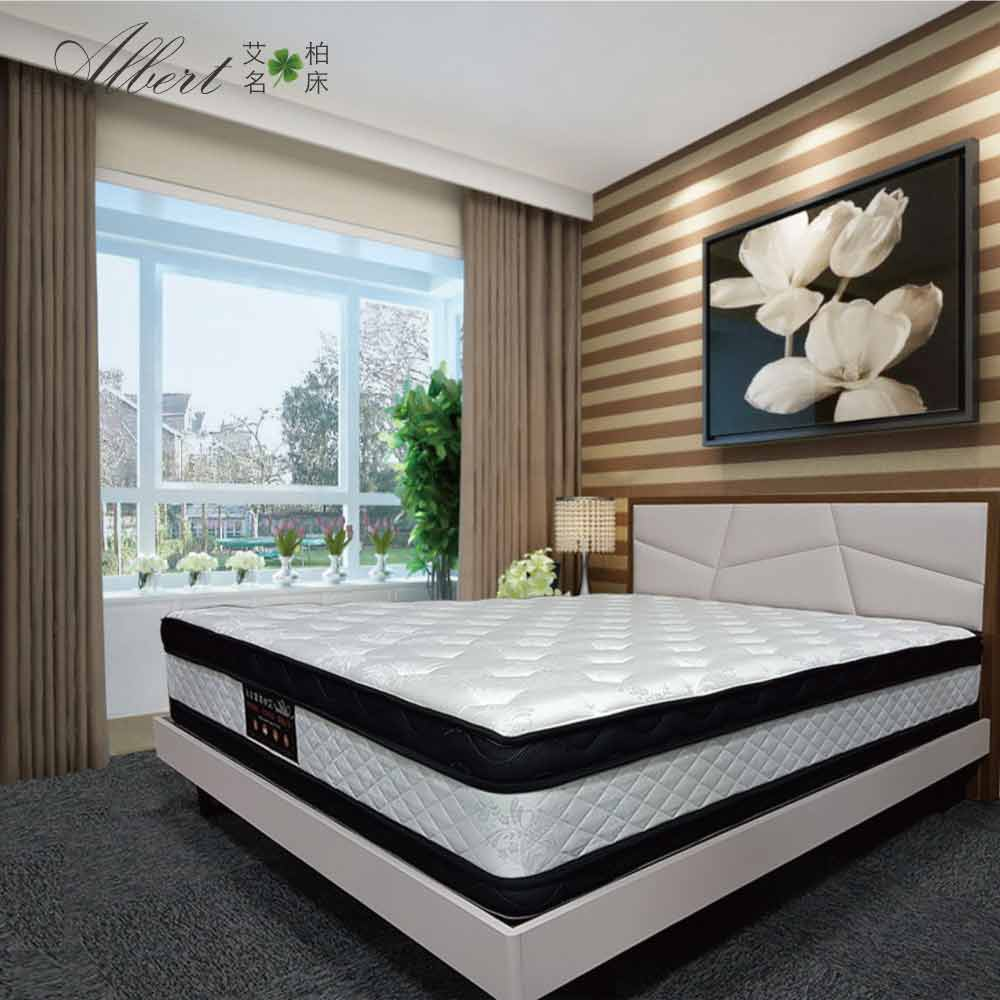 【Albert 艾柏】艾柏 正四線抗菌涼感6尺雙人加大乳膠獨立筒床墊(6x6.2尺)