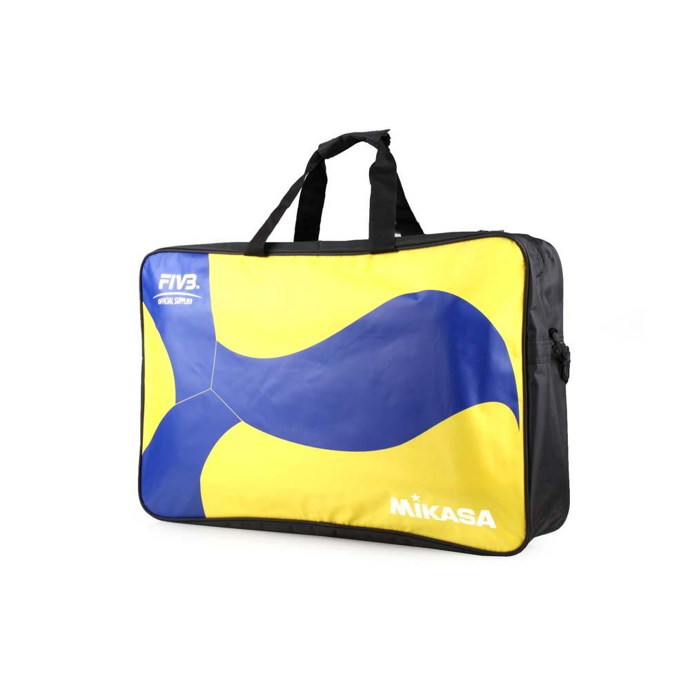 MIKASA 排球袋-6顆裝 手拿袋 手提袋 肩背袋 收納袋 藍黃黑 F